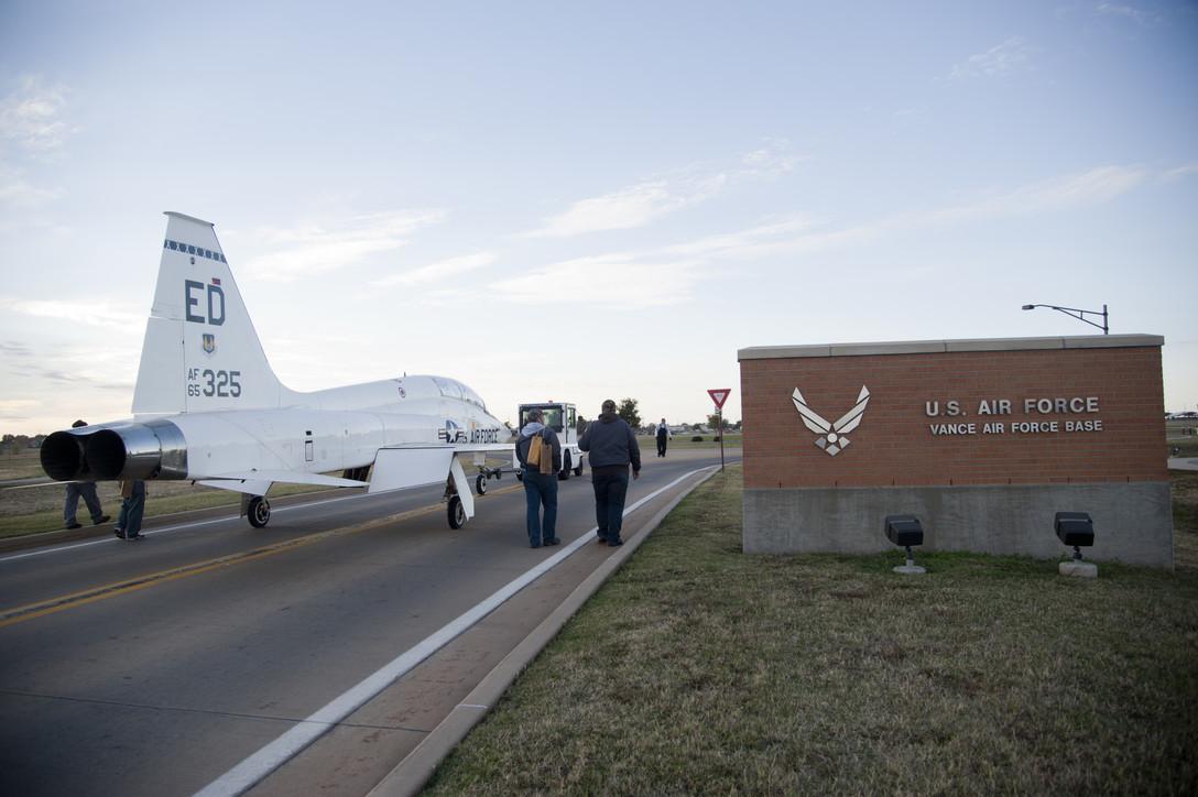 T-38 Talon jet at Vance Gate, Vance Air Force Base