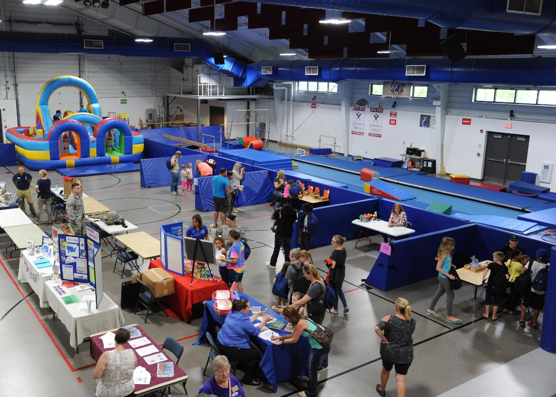 The School Liaison Office hosted a back-to-school picnic and the Operation Homefront Back-to-School Brigade at Liberty Square August 4, 2016, on Grand Forks Air Force Base, N.D.