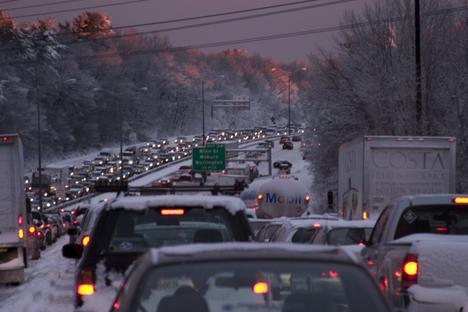 Boston Area Winter Traffic, Hanscom Air Force Base