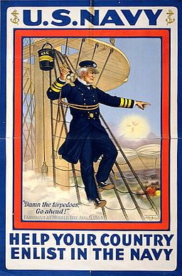 Navy WWI Recruiting Poster of Admiral David Farragut