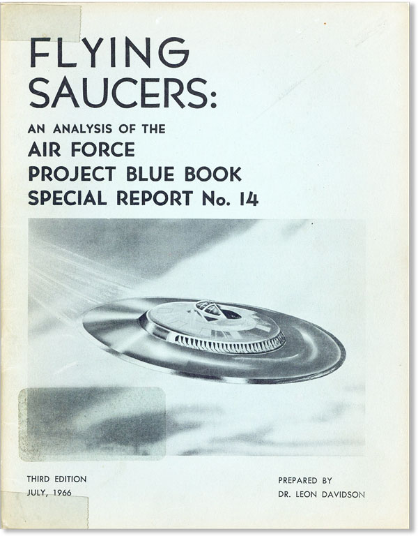 Cover of a civilian analysis of Project Blue Book.