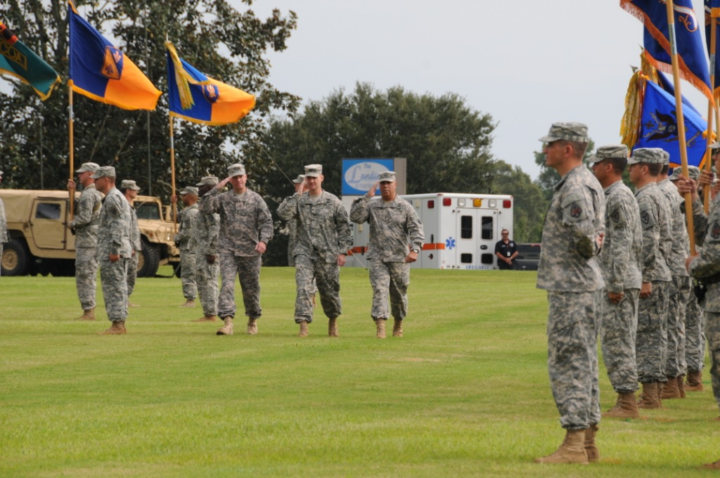 Change of command ceremony where Maj. Gen. Kevin W. Mangum assumed command at Fort Rucker