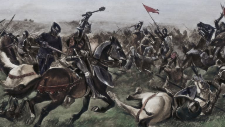 Another painting of the battle.
