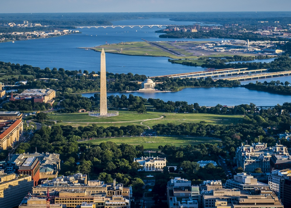 Aerial View of Washington DC, Fort Belvoir Getting Here