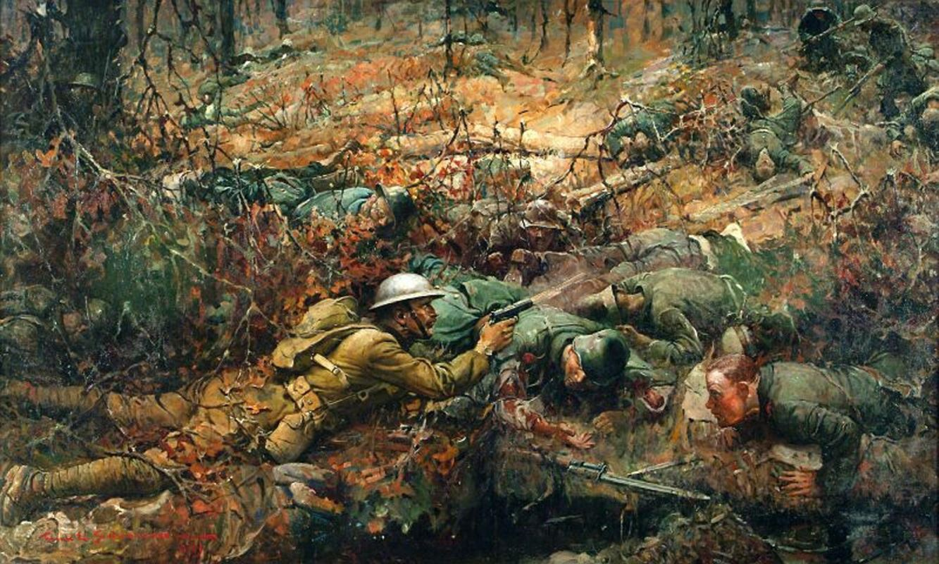 Sergeant Alvin C. York, a painting by Frank Schoonover.