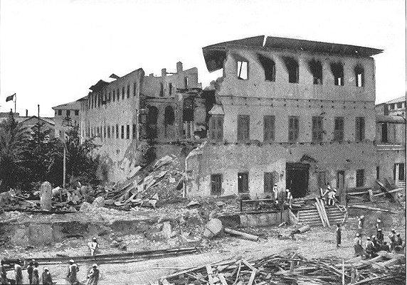 Zanzibarian Palace Harem after bombardment