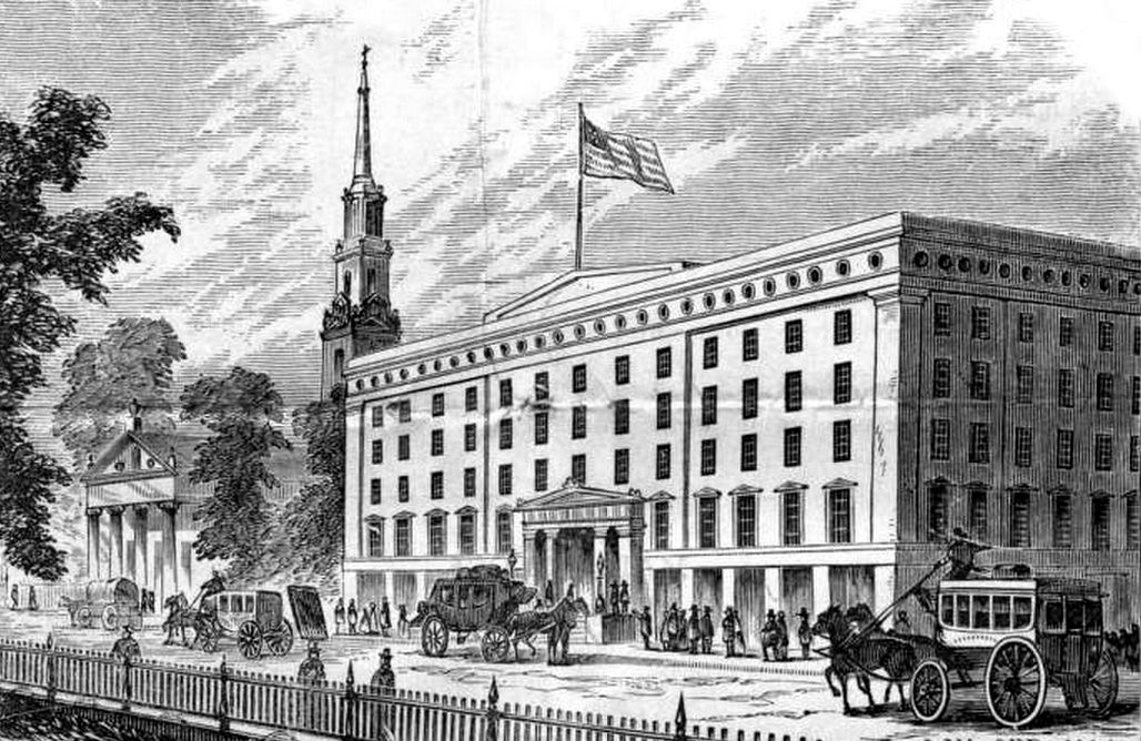 Among them was the Astor House, New York's first and, at the time, most popular luxury hotel.