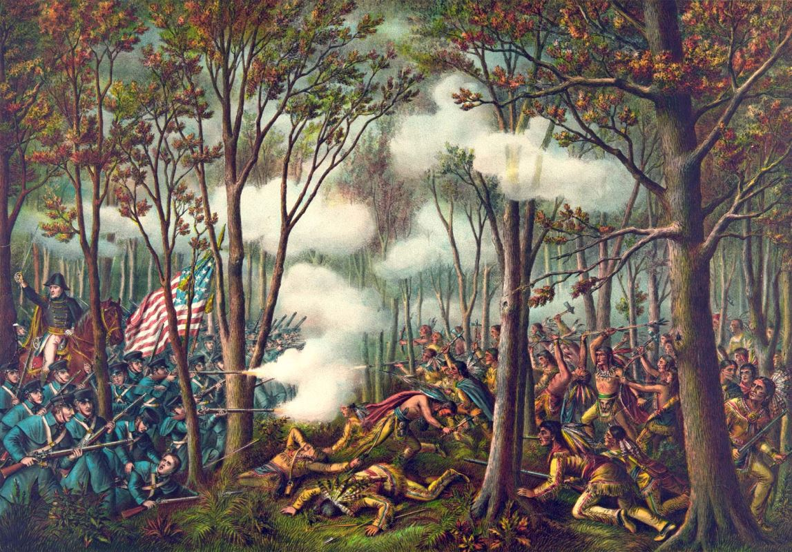 An 1899 Painting of the Battle of Tippecanoe.