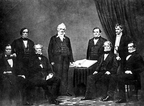 The cabinet of President James Buchanan, 1859.