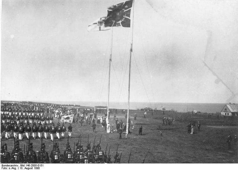 Ceremony celebrating the signing of the Heligoland-Zanzibar Treaty between Germany and Britain