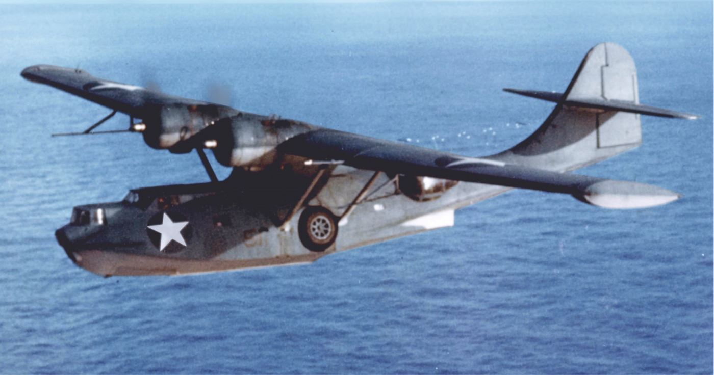 A US Navy Consolidated PBY Catalina flying boat.