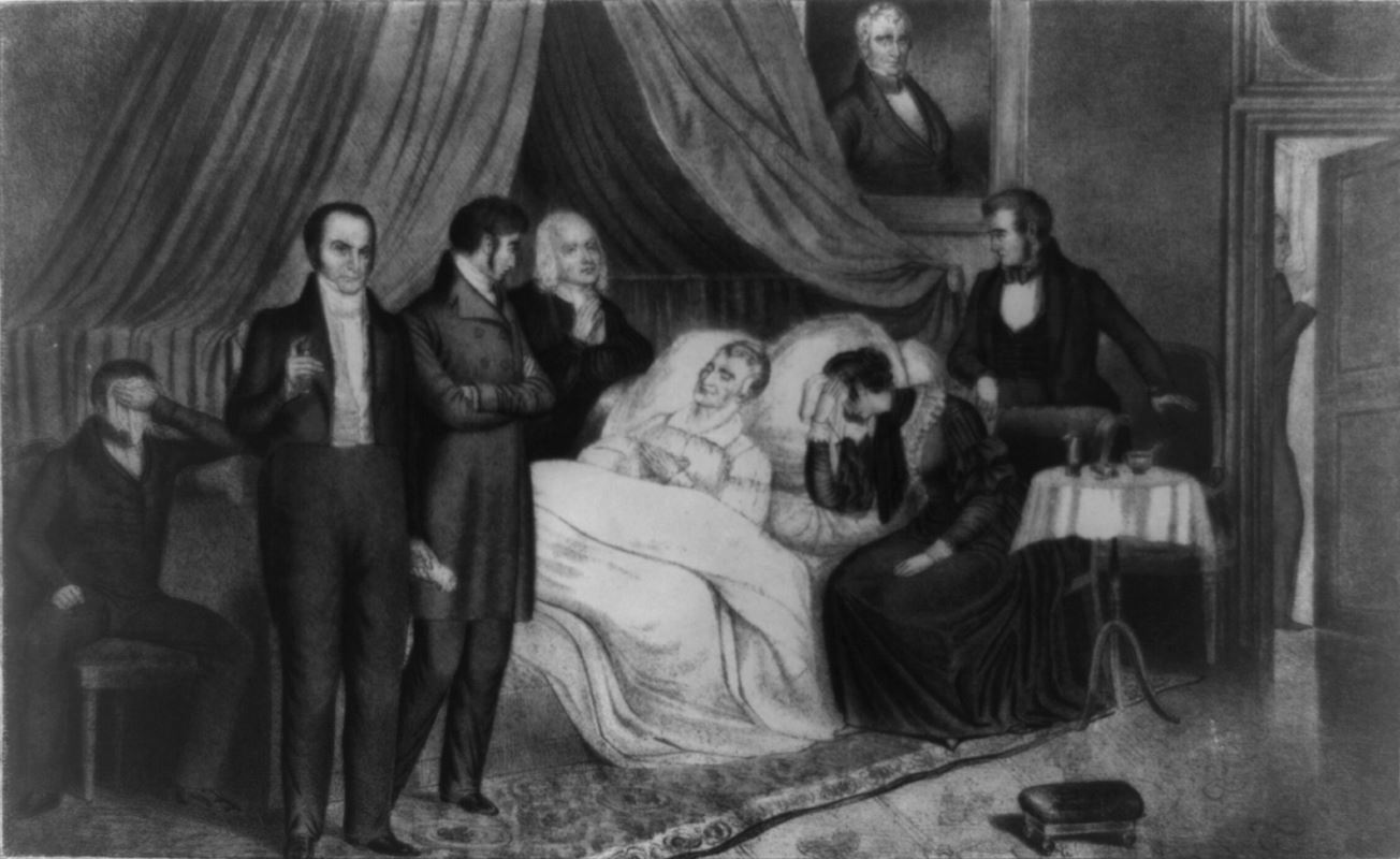 The death of President William Henry Harrison.