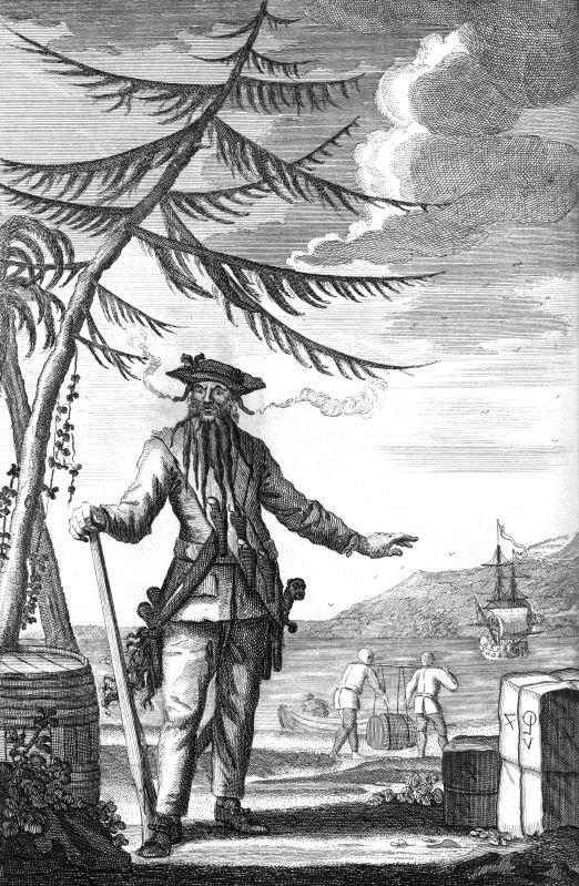 1736 engraving of Edward Teach.