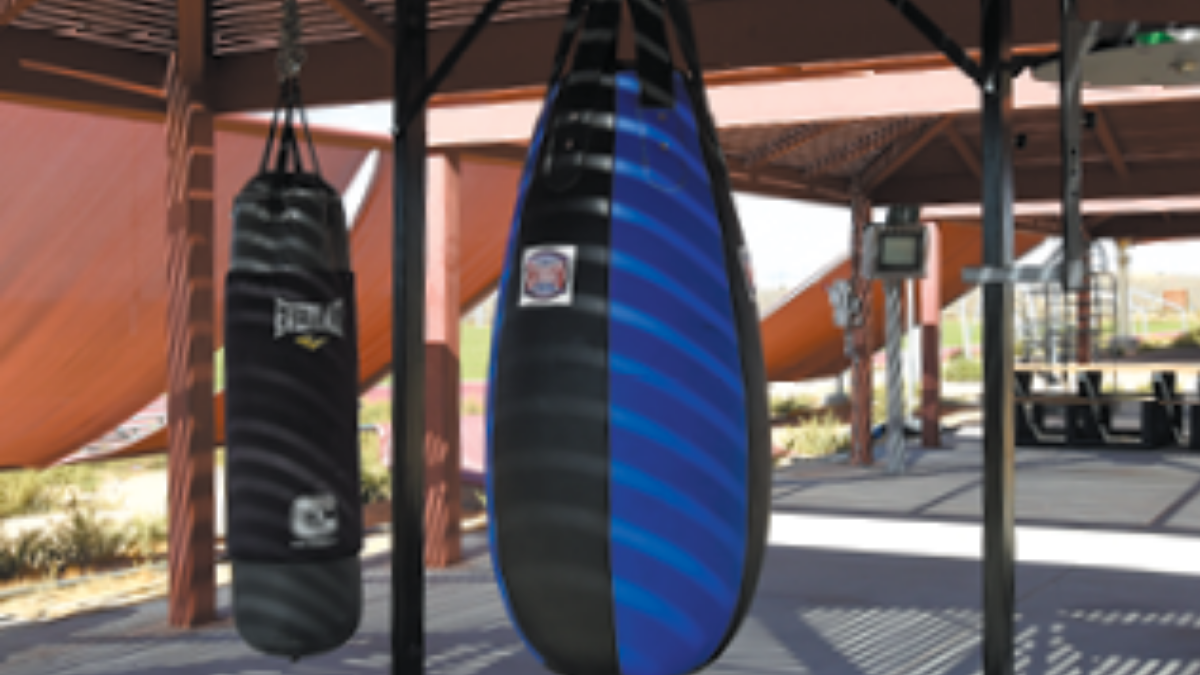 Arnold Park outdoor boxing ramada, Edwards Air Force Base Parks and Recreation