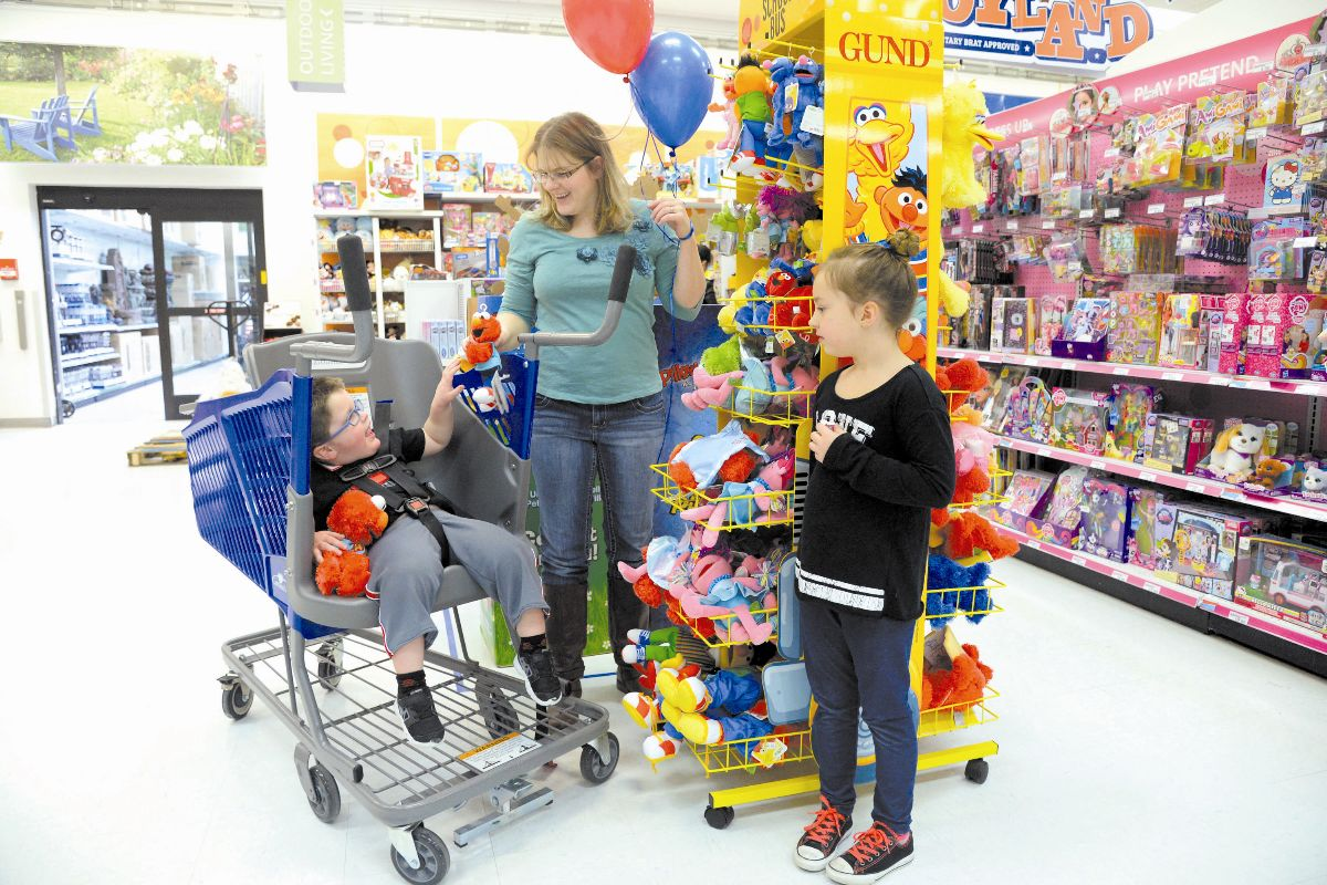 Family shopping, Hill Air Force Base