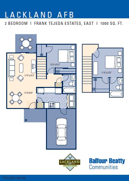 Frank Tejeda 2Bd 2Story Floor Plan