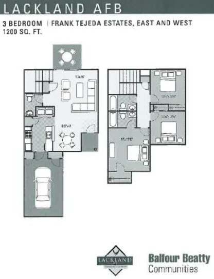 Frank Tejeda 3 Bd 2 Story Floor Plan