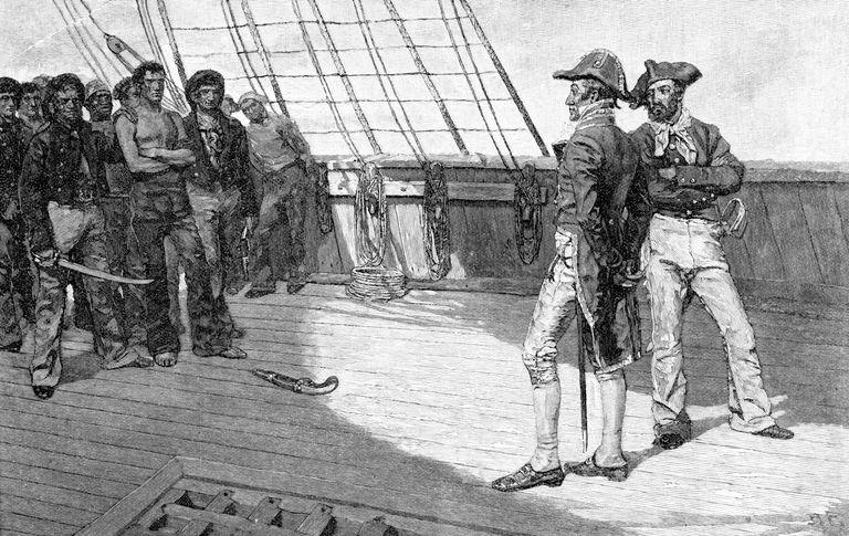 British naval officers impressing American sailors.