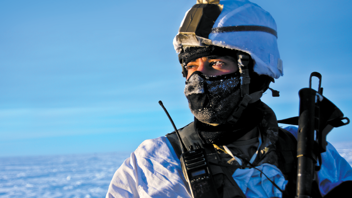Defense Logistics Agency Soldier in snow, Joint Base Elmendorf-Richardson, JBER
