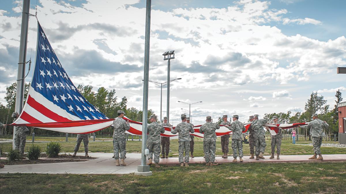 Flag Ceremony, Joint Base Elmendorf-Richardson, JBER