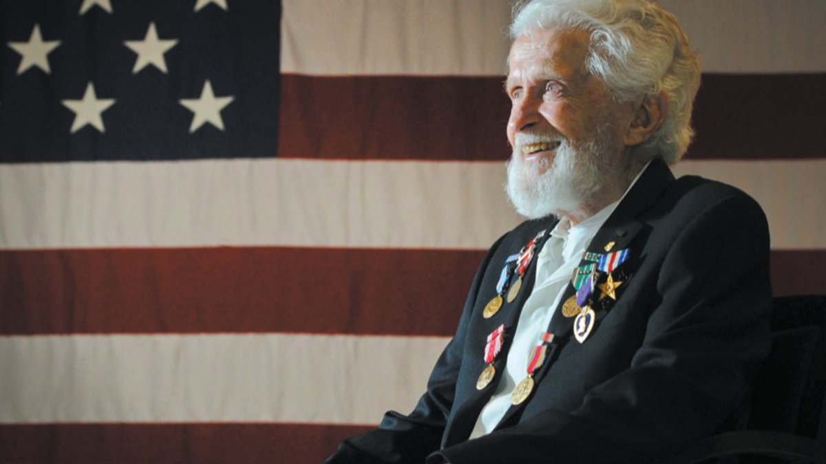 Military Veteran with Medals, Joint Base Elmendorf-Richardson, JBER
