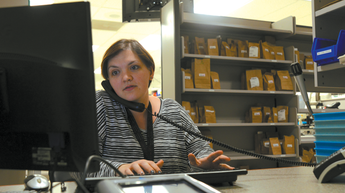 JBER Employee working in office, Joint Base Elmendorf-Richardson, JBER