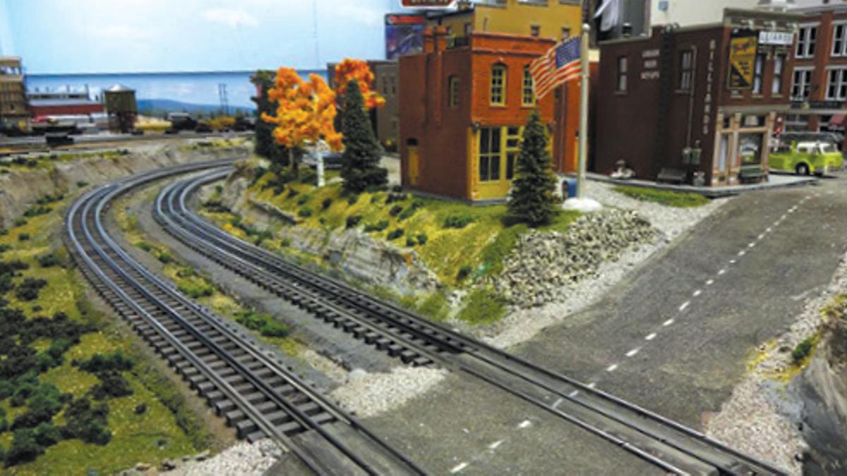 Model train tracks and model city, Joint Base Elmendorf-Richardson, JBER