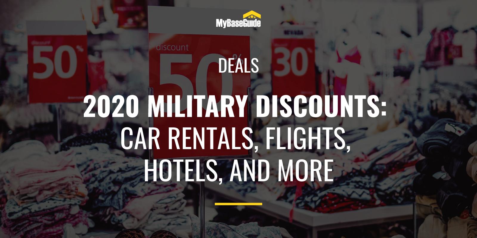 2020 Military Discounts Hero Image