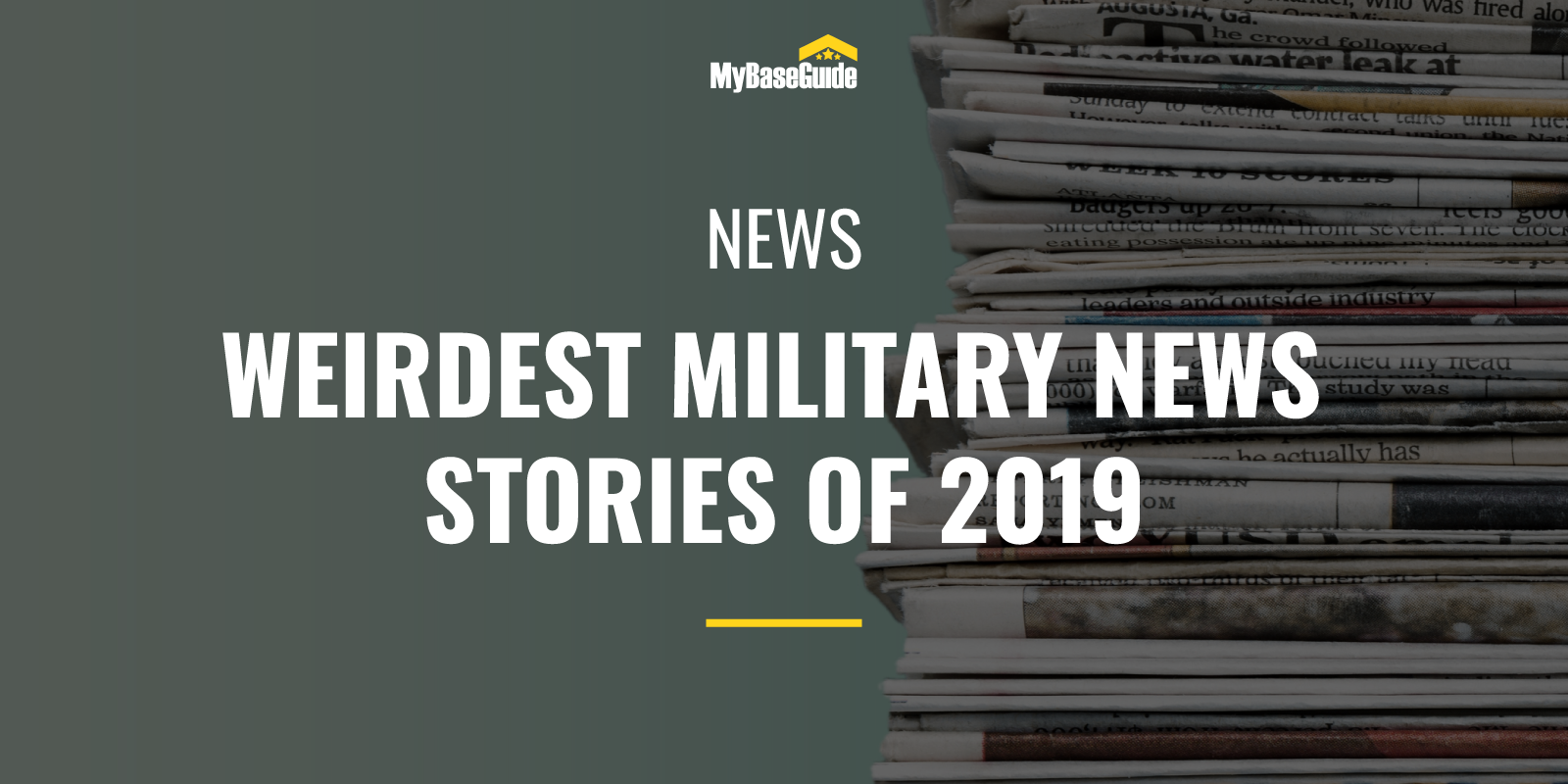 Weirdest Military News Stories of 2019
