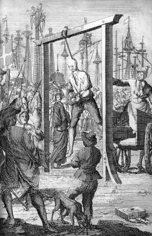 The hanging of Stede Bonnet.