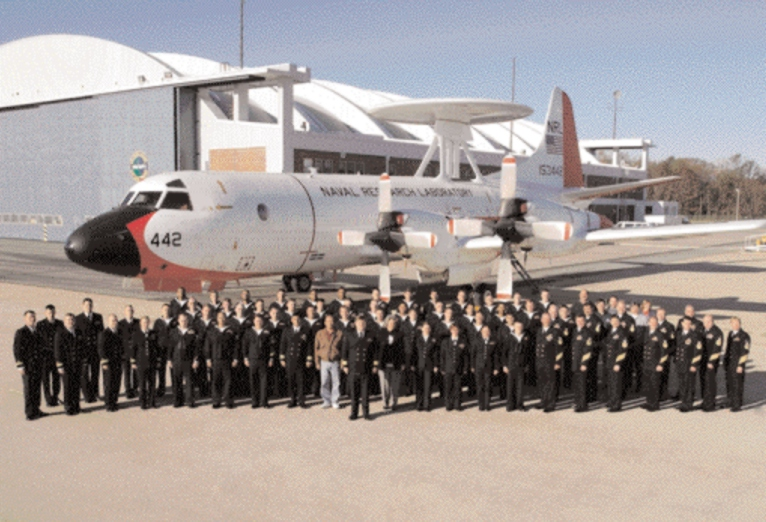 NP-3D with VXS-1 personnel, NAS Patuxent River