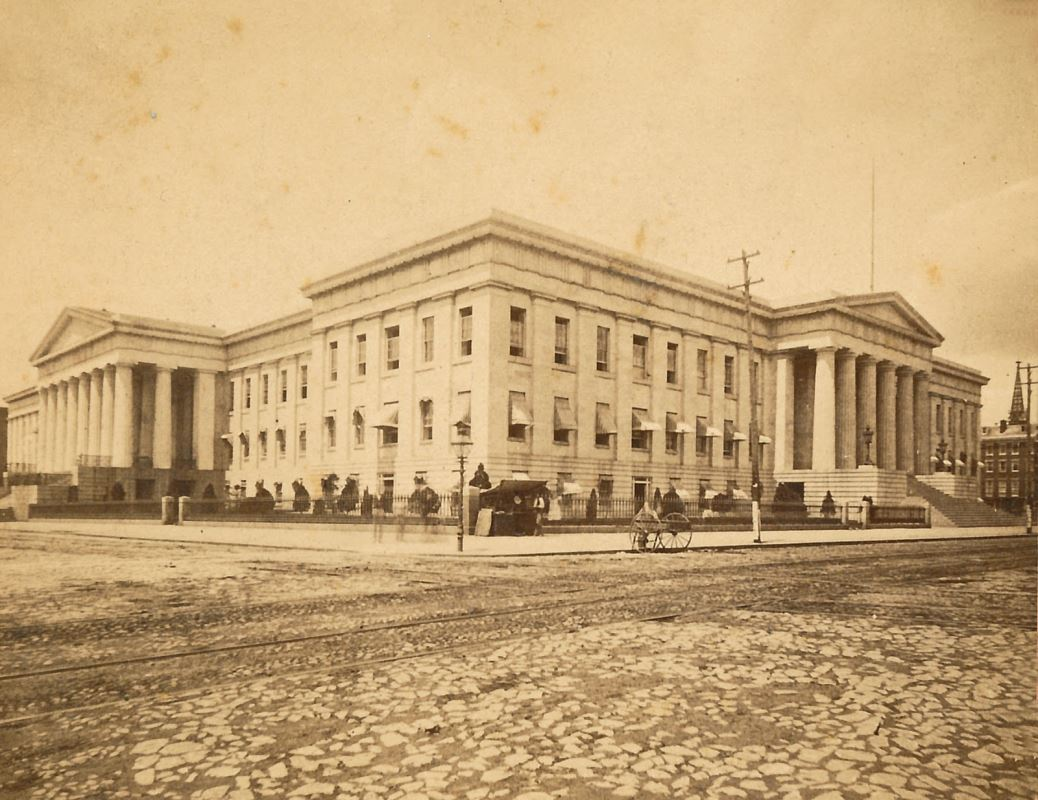 The US Patent Office was used as a barracks and hospital during the Civil War. It was here that Dr. Walker worked briefly as a nurse during the early months of the conflict.