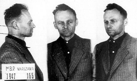 Pilecki's prisoner photo, 1947.