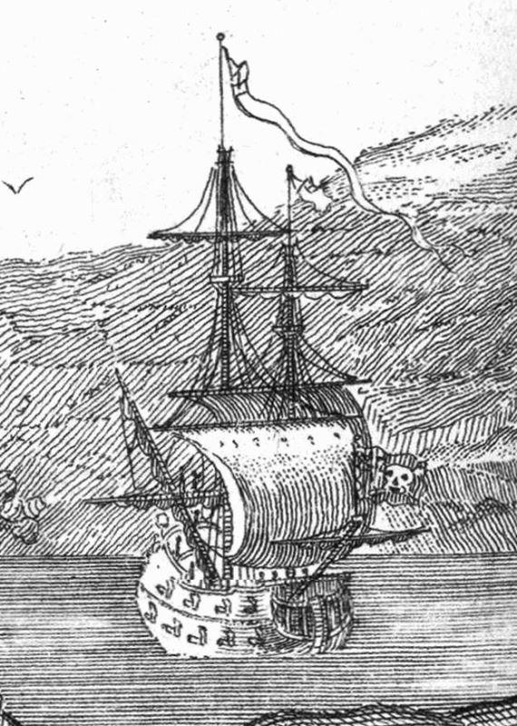 A 1736 Sketch of Queen Anne's Revenge.