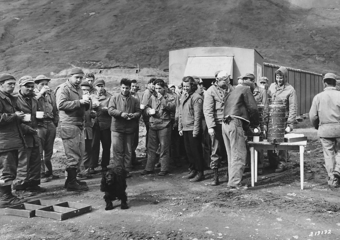 Soldiers at Red Cross Aid Station, JBER History