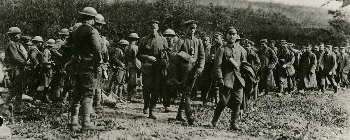 Alvin York and the 132 Germans he took prisoner.