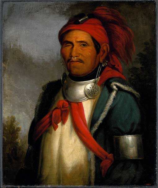 1820 painting of Tenskwatawa.