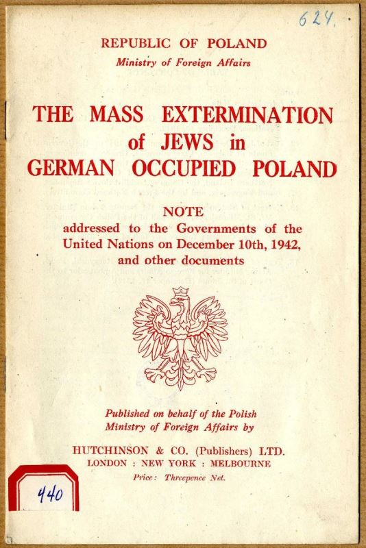 The Mass Extermination of Jews in German Occupied Poland cover