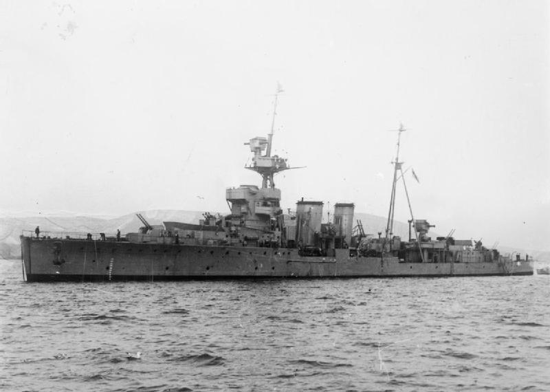 The HMS Curacoa, 1941