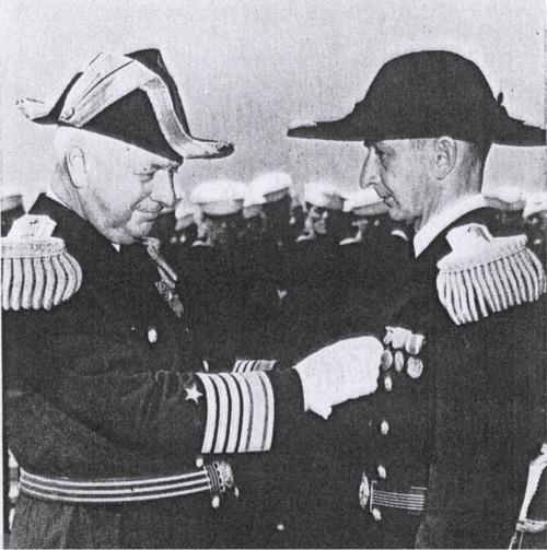 Lt. Anders receives his Navy Cross.