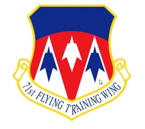 71st Flying Training Wing Emblem, Vance Air Force Base