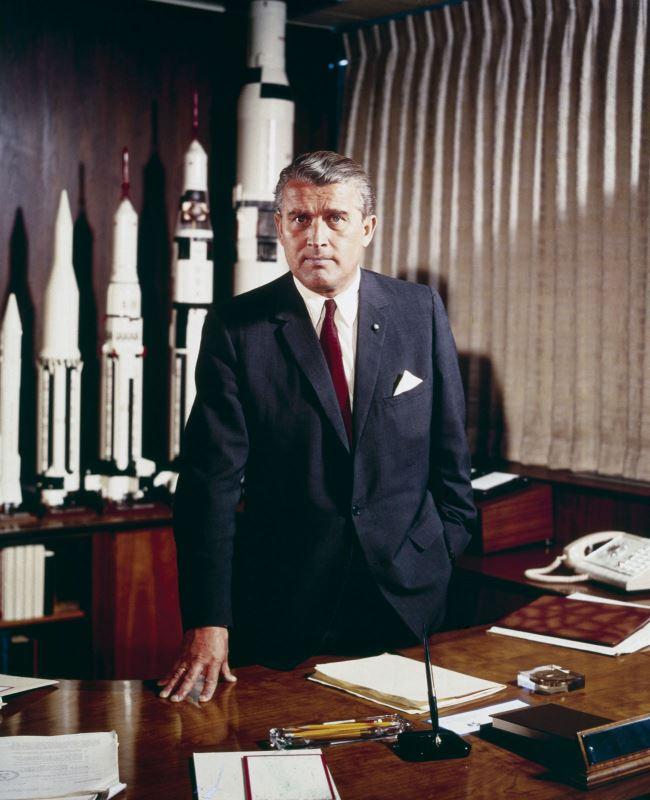 Wernher von Braun, director NASA's Marshall Space Flight Center, in 1964.