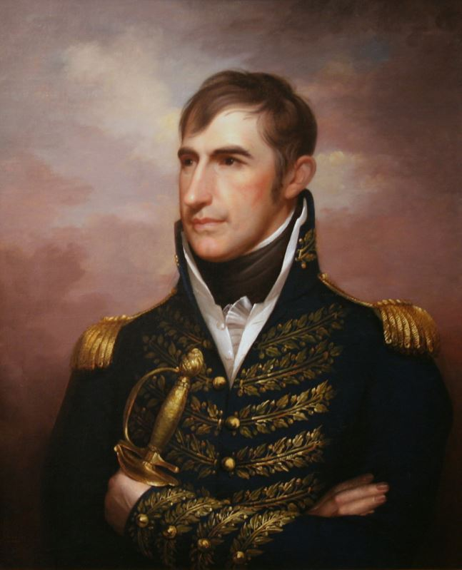 An 1814 portrait of Harrison in his Army uniform.