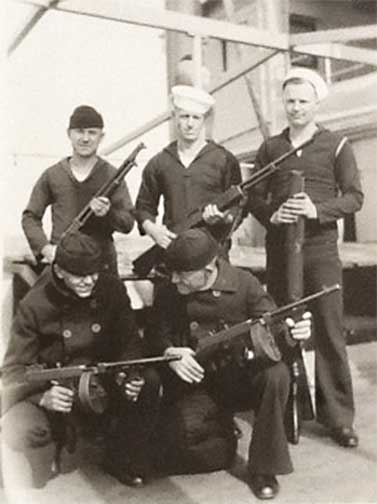 US Navy Sailors of the Yangtze Patrols posing with their small arms in a 1932 photograph.