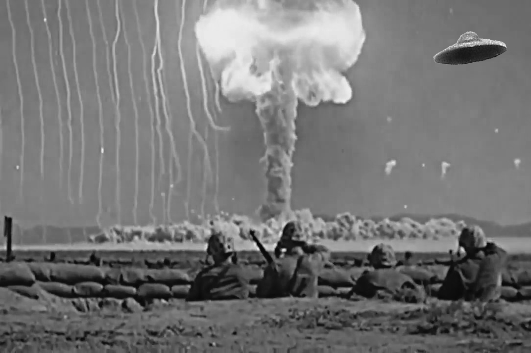 Aliens observing American nuclear tests