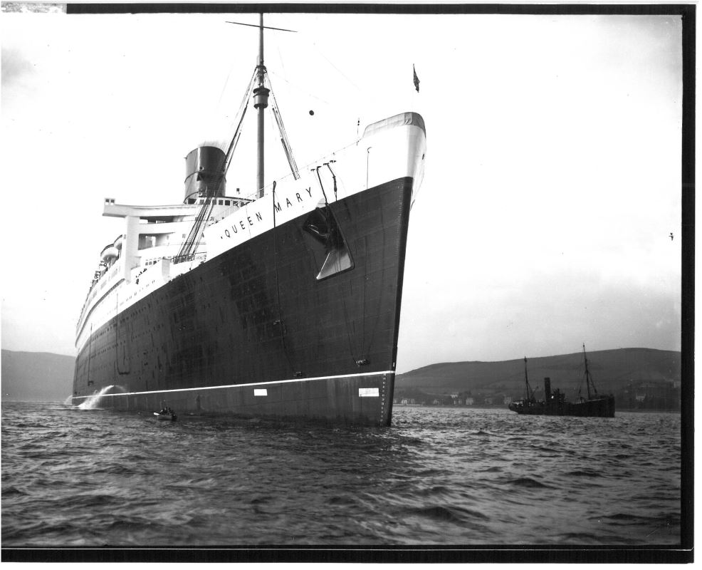 RMS Queen Mary around the time of her initial launch.