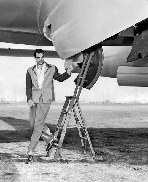 Howard Hughes during WWII.