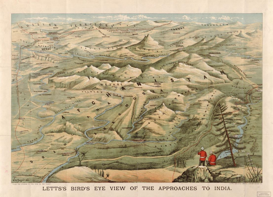 Letts's bird's eye view of the approaches to India. Map by W.H. Payne, Published by Letts, Son & Co. 19–. Geography and Map Division