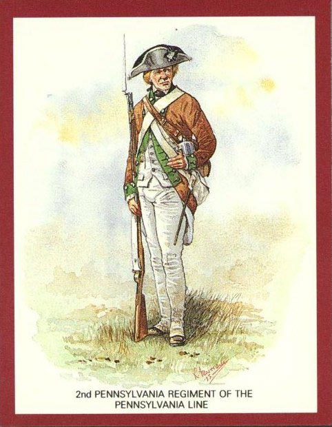 Example of a soldier from one of the Pennsylvania Line regiments.