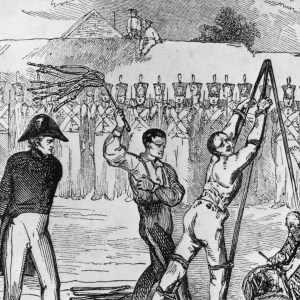 Sketch of a military flogging
